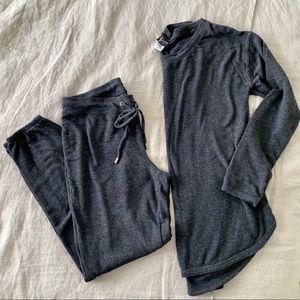 Gray Fleece Tunic/ Jogger Lounge Set